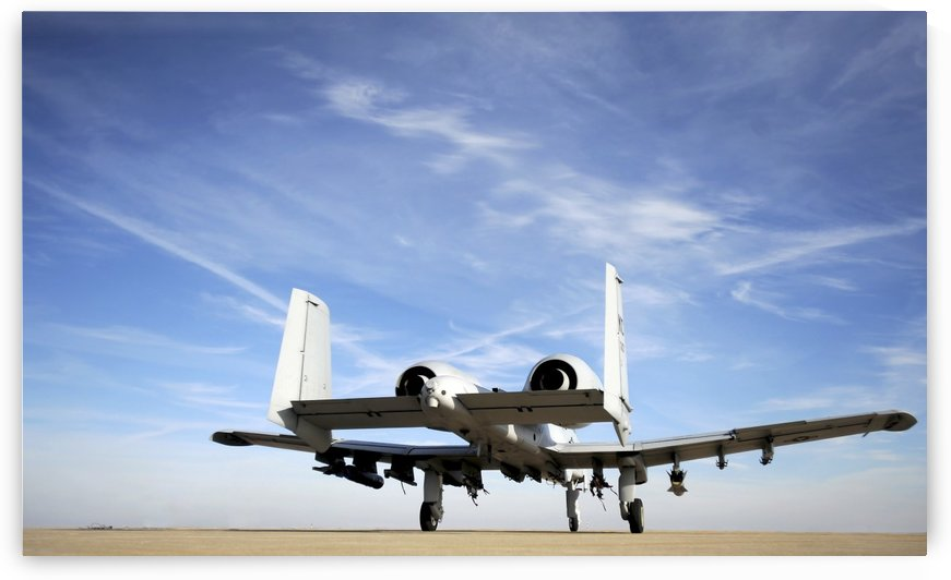 An A-10 Thunderbolt II taxies out of the hot pit at Whiteman Air Force Base Missouri. by StocktrekImages
