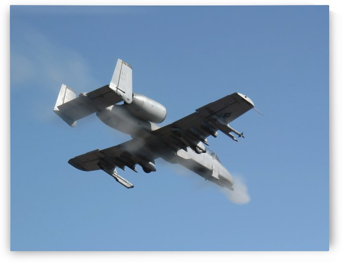 A Pilot fires the GAU-8 from an A-10 Thunderbolt II. by StocktrekImages