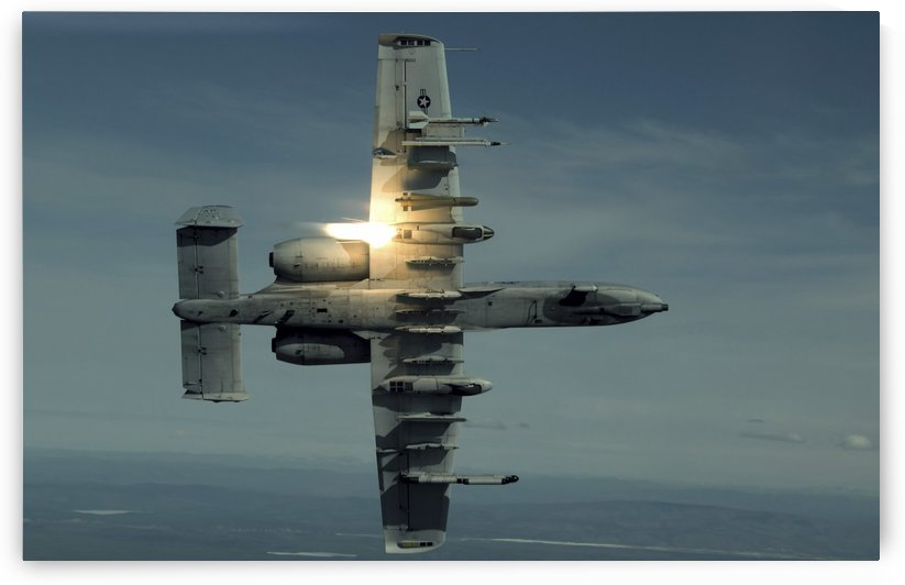 An A-10 Warthog breaks over the Pacific Alaska Range Complex during live fire training. by StocktrekImages