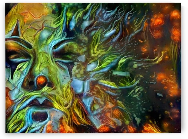Abstract Man Face by Bruce Rolff