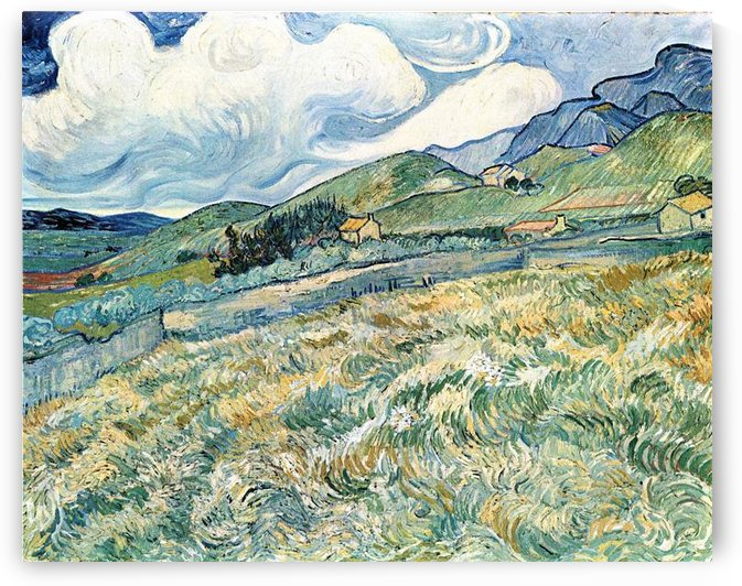 Mountain landscape behind the Hospital Saint-Paul by Van Gogh by Van Gogh