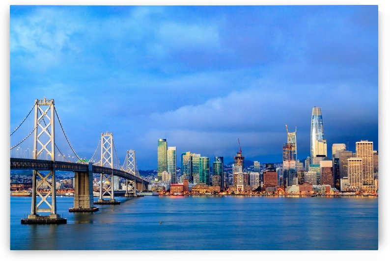 San Francisco on Blue by JyoScapes
