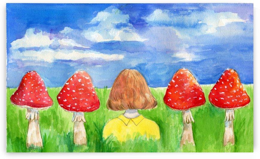 Mushroom Girl  by Janus Ng