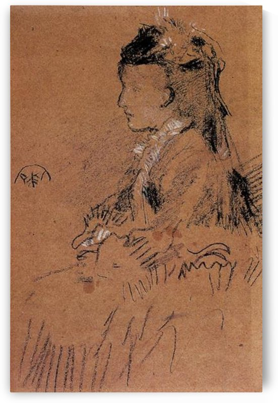 Mrs Leyland seated by Whistler by Whistler