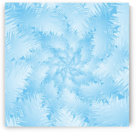 Blue Snowflake Spiral by rizu_designs