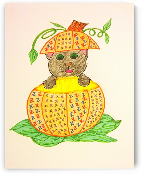 Kitty Loves Her Pumpkin by SarahJo Hawes