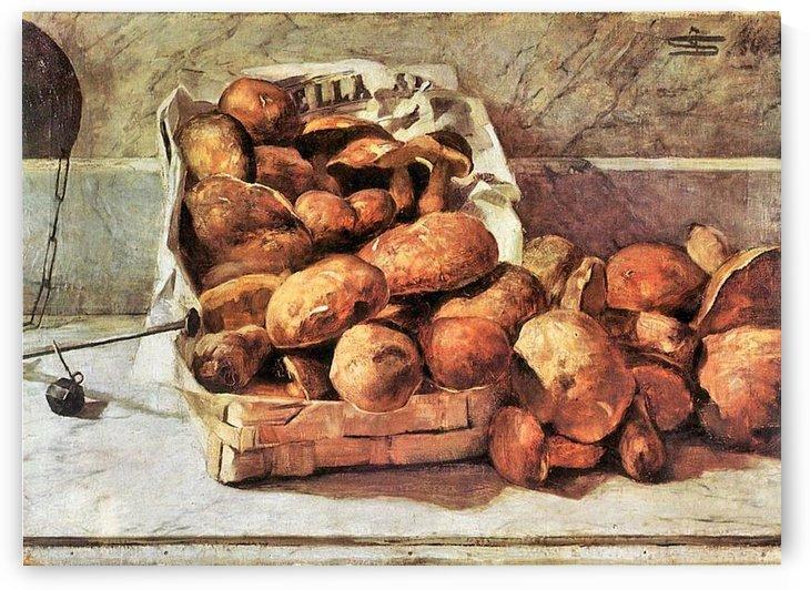 Mushrooms by Giovanni Segantini by Giovanni Segantini