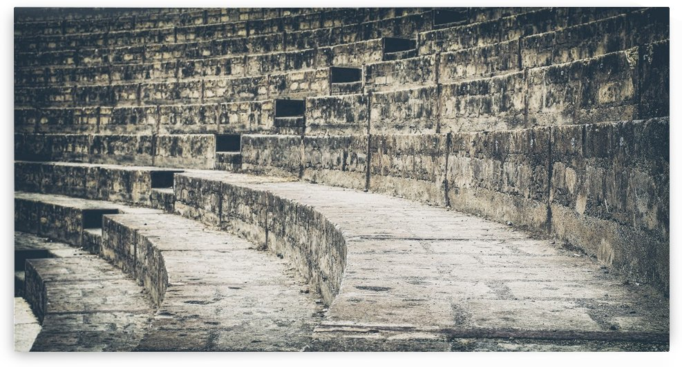 Pompei Amphitheatre stairs by Ira Silence