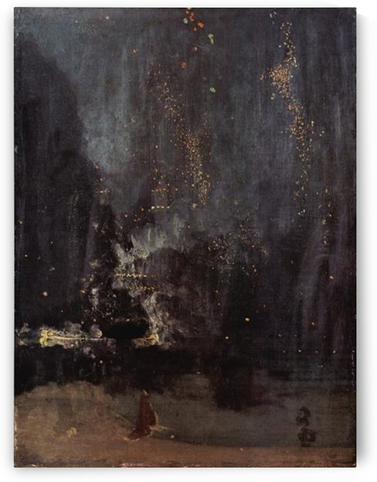 Nocturne in black and gold, the falling rocket by Whistler by Whistler