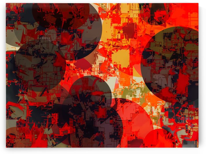 geometric circle pattern abstract in orange and red by TimmyLA