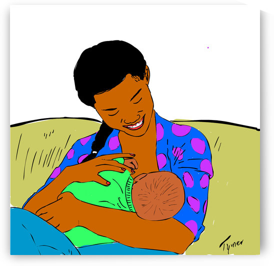breastfeeding mother by tymer art