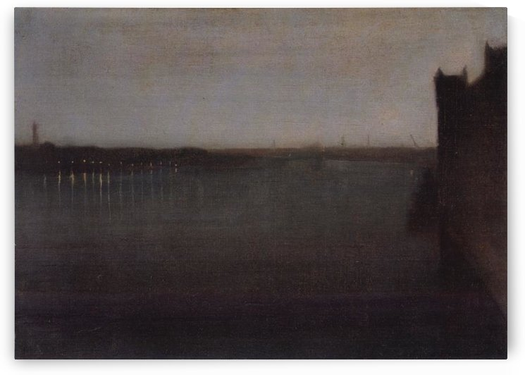 Nocturne in grey and gold by Whistler by Whistler
