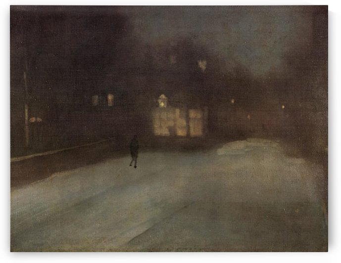Nocturne in grey and gold -2- by Whistler by Whistler