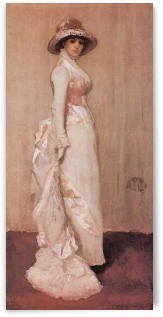 Nocturne in rose and grey by Whistler by Whistler