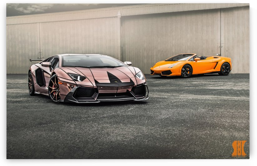 Rose Gold Chrome Aventador -with watermark by Trevor Spiker