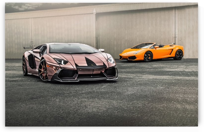 Rose Gold Chrome Aventador -without watermark by Trevor Spiker