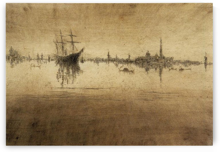 Nocturne -2- by Whistler by Whistler