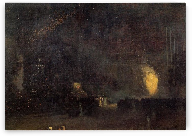 Nocturne, Black and Gold, The Fire Wheel by Whistler by Whistler