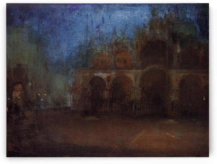 Nocturne, Blue and Gold, Saint Marks, Venice by Whistler by Whistler