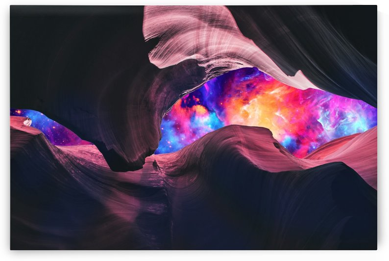 Grand Canyon with Colorful Space Collage by Art Design Works