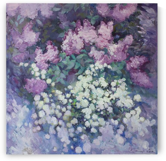 White bush in lilac by Anastasiia Grygorieva