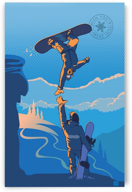 snowboard highfive by Sassan Filsoof