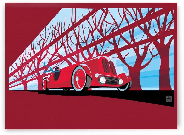 Vintage auto racer by Sassan Filsoof