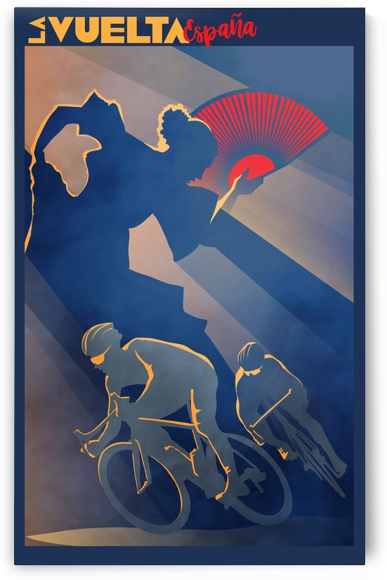 La Vuelta retro cycling poster by Sassan Filsoof