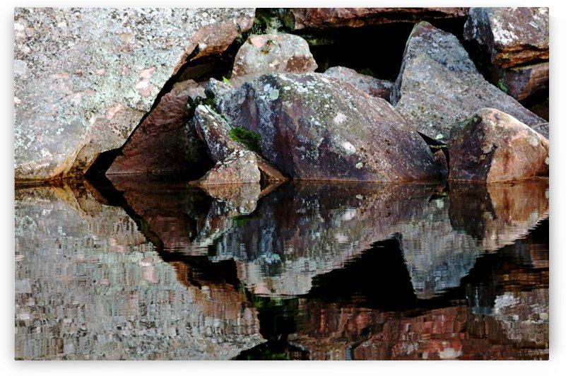Shawanaga Rock And Reflectiions VII by Deb Oppermann