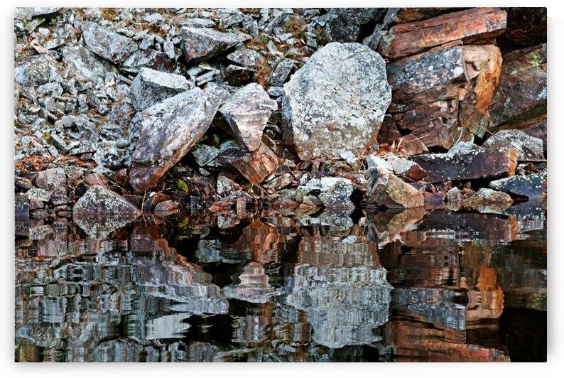 Shawanaga Rock And Reflections VI by Deb Oppermann