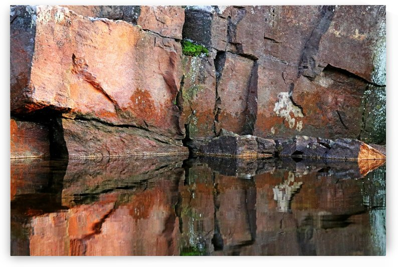 Shawanaga Rock And Reflections IX by Deb Oppermann