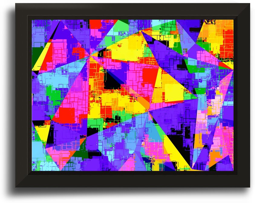 geometric triangle abstract background in purple blue pink yellow by TimmyLA