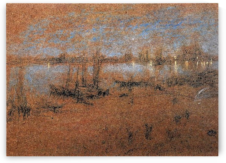 Nocturne, The Riva by Whistler by Whistler