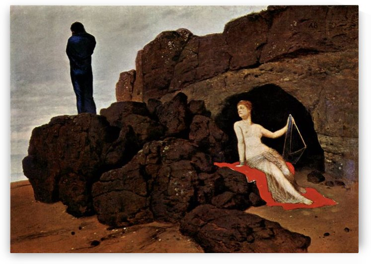 Odysseus and Calypso by Arnold Bocklin by Arnold Bocklin