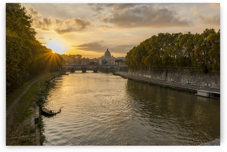 Sunset in Rome by Pietro Ebner