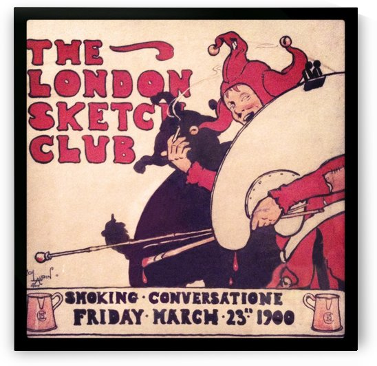 London Sketch Club invite by Cecil Aldin