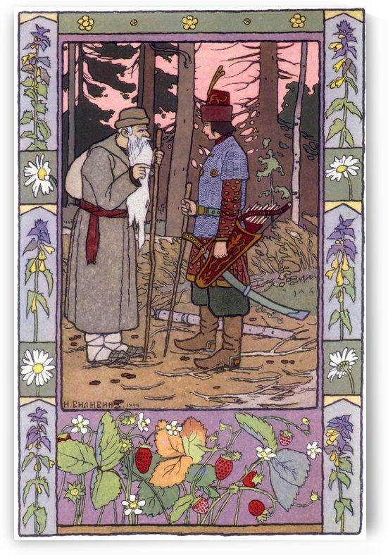 Saint and Hunter by Ivan Bilibin