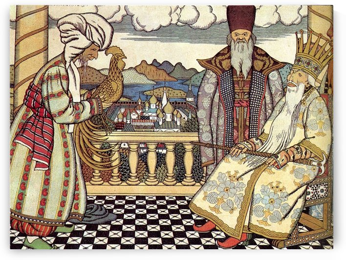 The Tsar and the fortune teller by Ivan Bilibin