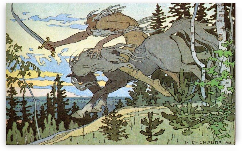 Koshchey by Ivan Bilibin