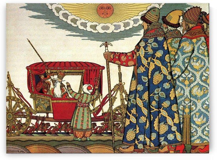 The Tsar and his servants by Ivan Bilibin