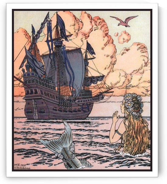 The Little Mermaid by Ivan Bilibin