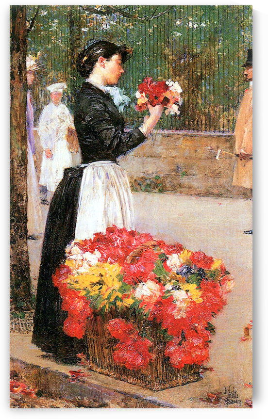 Flower girl by Hassam by Hassam