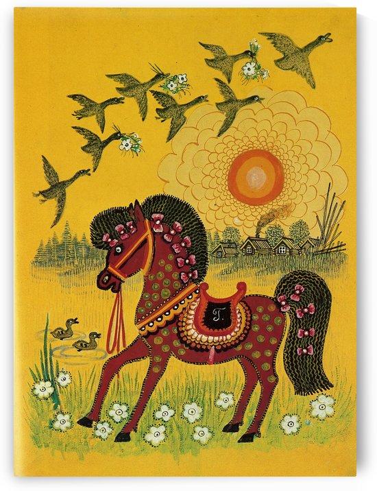 Vasnetsov horse by Ivan Bilibin