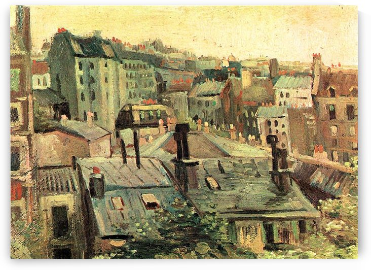 Overlooking the rooftops of Paris by Van Gogh by Van Gogh