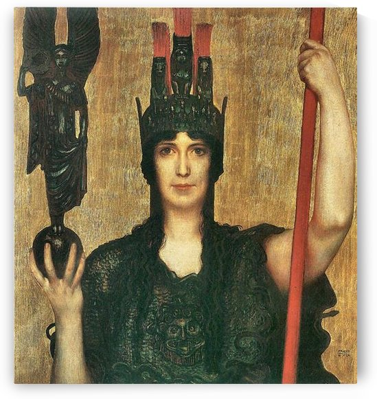 Pallas Athene by Franz von Stuck by Franz von Stuck