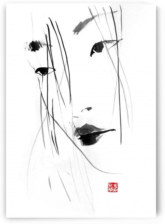 geisha face by pechane