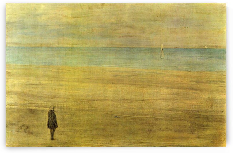 Harmony in Blue and Silver - Trouville by James Abbot McNeill Whistler by James Abbot McNeill Whistler