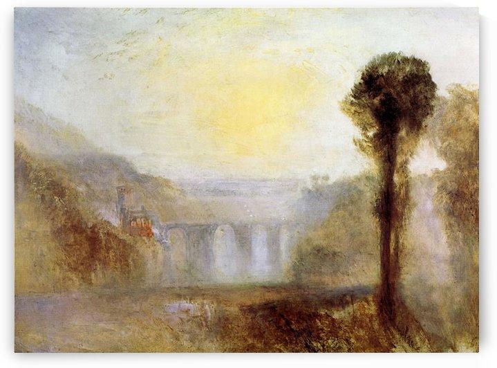 Ponte delle Torri, Spoleto by Joseph Mallord Turner by Joseph Mallord Turner