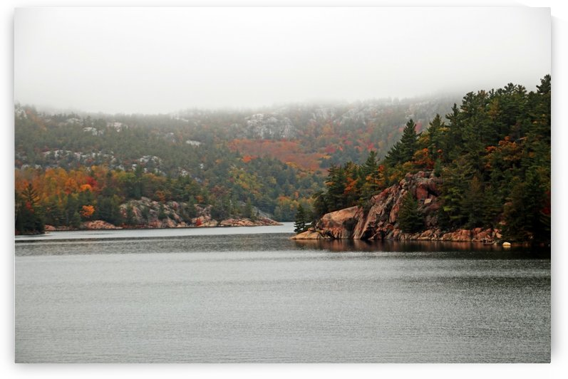 Misty La Cloche Mountain Range by Deb Oppermann