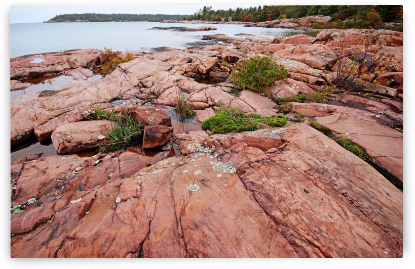 Pink Granite Shore Killarney I by Deb Oppermann